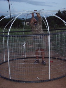 "Building the moveable chicken coop. The first step in setting up the chicken ""mandala"" system we learned at our PDCourse."