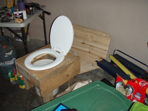 :D not just any toilet, but a composting one. No flies. No smell. No mess. Love it.